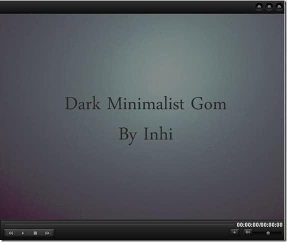 Dark Minimalistic Skin for GOM Media Player