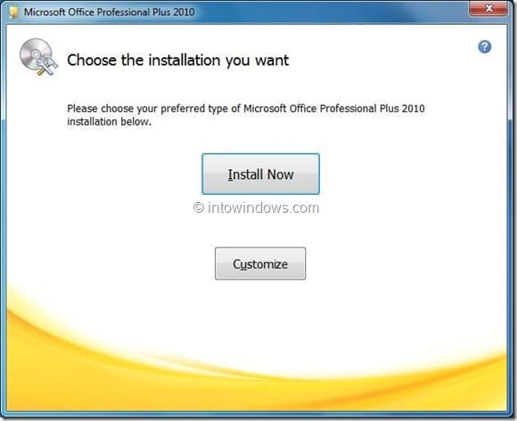 Install Office 2010 On A Different Partition