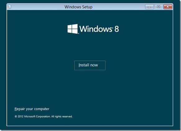 Install Windows 8 on VHD Step2