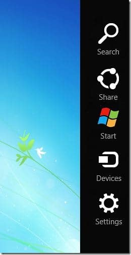 Windows 8 Charm Bar for Windows 7 Picture
