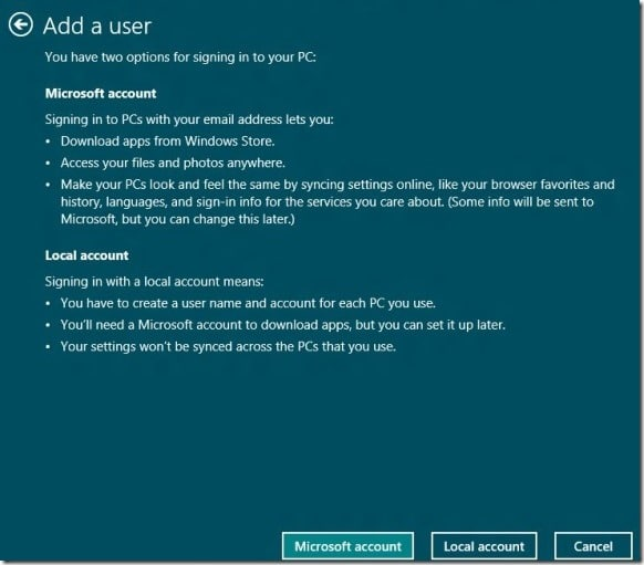 Create User Account In Windows 8 Step2