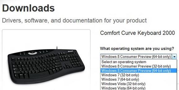 Microsoft Keyboard & Mice Drivers for Windows 8