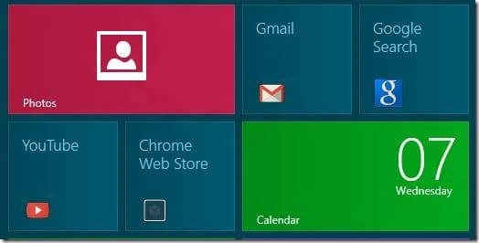 Pin Chrome Web Apps To Windows 8 Start Screen