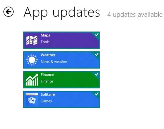 Update Metro Apps In Windows 8 Step3