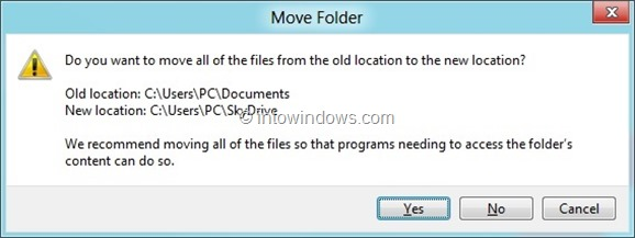 Automatically Backup My Documents Folder To SkyDrive Step