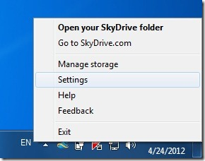 Change Default Location of SkyDrive Client