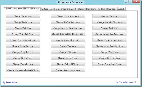 Change Windows 8 Ribbon Icons