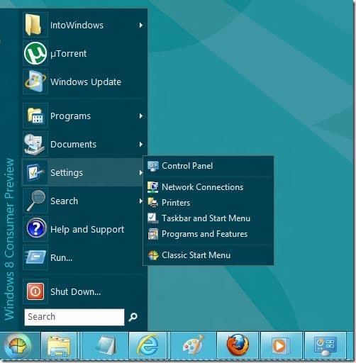 Classic Shell for Windows 8