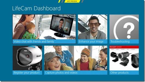 Microsoft Releases LifeCam Metro App For Windows 8