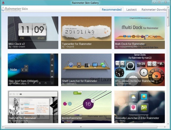 Rainmeter Skin Gallery Software