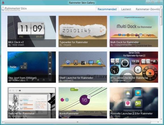 Rainmeter Skin Gallery Software
