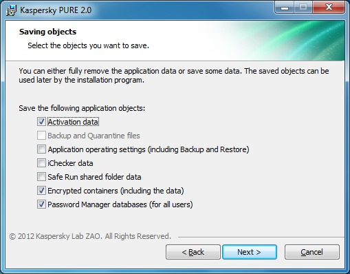 Uninstall Kaspersky Pure1