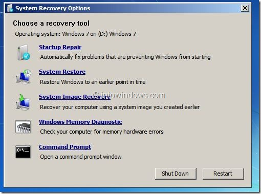 windows 7 boot recovery fix