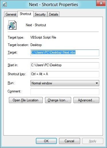 Hotkey To Next Desktop Background In Windows 10/8/7