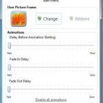 User Picture Tuner: Tweak Start Menu User Picture Animation Settings