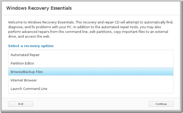 Windows Recovery Essentials