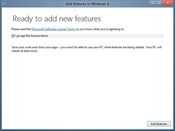 Enable Media Center in Windows 8 Step3