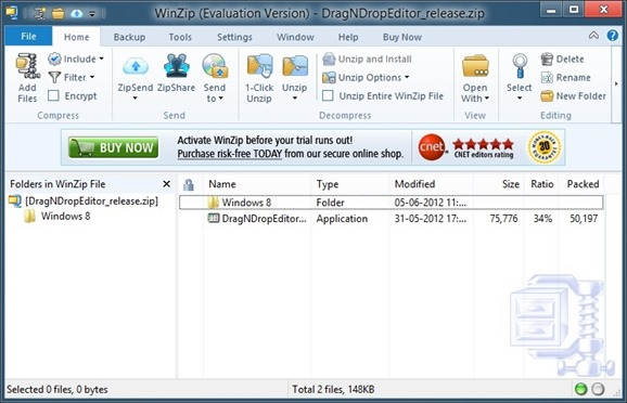 WinZip for Windows 8 Picture1