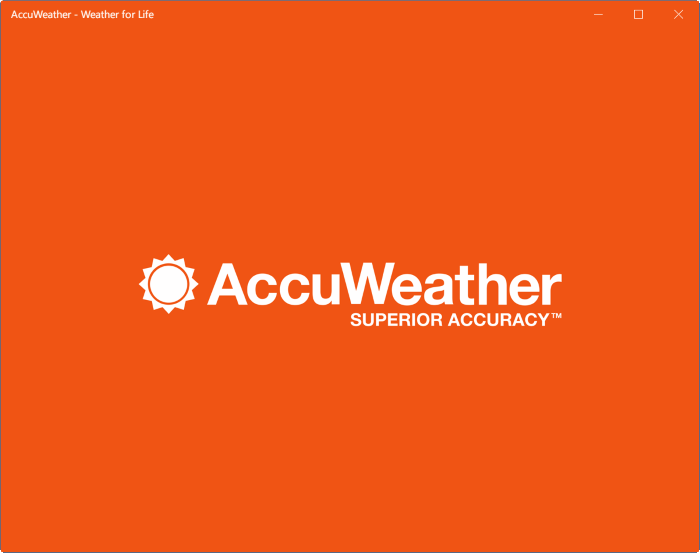 accuweather app for windows 10