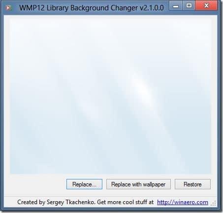 Change Windows Media Player Background In Windows 8