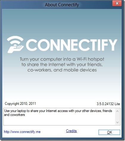 Connectify for Windows 8