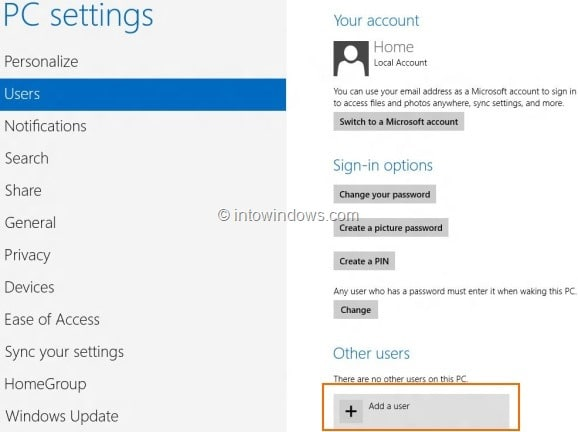 Create Microsoft Account In Windows 8 Step3