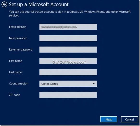 Create Microsoft Account In Windows 8 Step5
