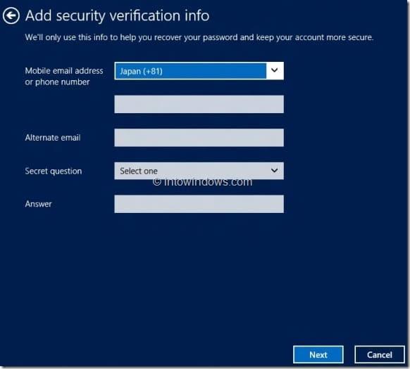 Create Microsoft Account In Windows 8 Step6