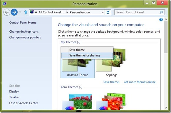 Create Windows 8 Theme