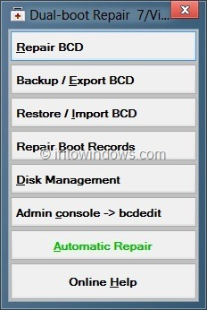 Repair Dual Boot Issues With Visual BCD Editor