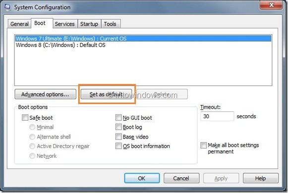 Enable Windows 8 Boot Menu Step2