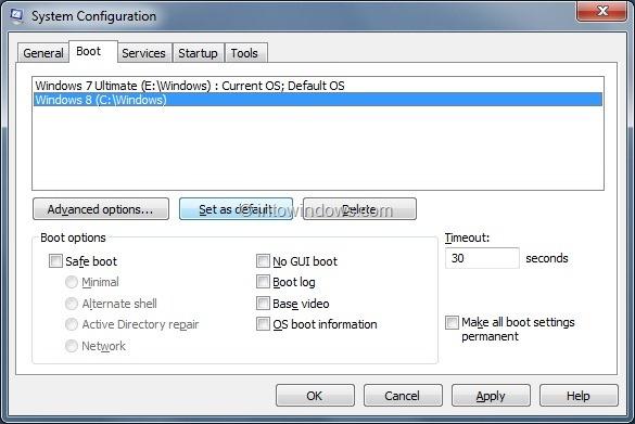Enable Windows 8 Boot Menu Step3