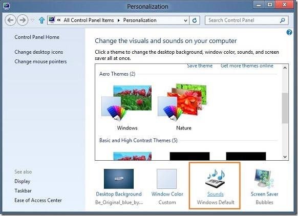Enable Windows Startup Sound In Windows 8 Step2