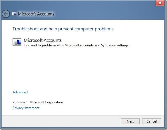 Fix Problems With Sync Settings In Windows 8