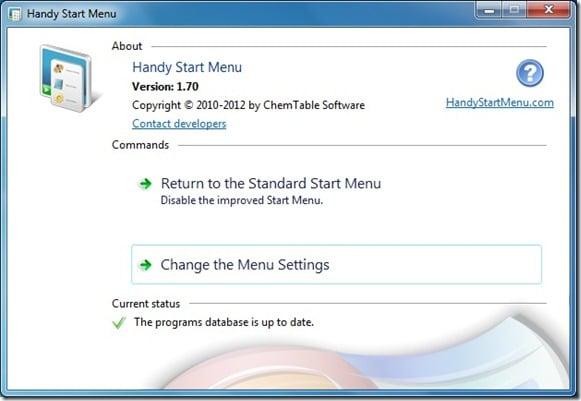 Handy Start Menu for Windows 7