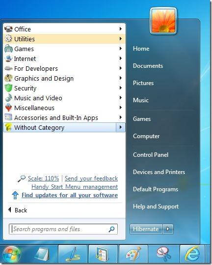 Handy Start Menu for Windows