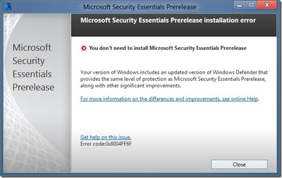 Install Microsoft Security Essentials In Windows 8 Picture