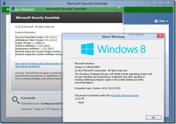 Install Microsoft Security Essentials in Windows 8