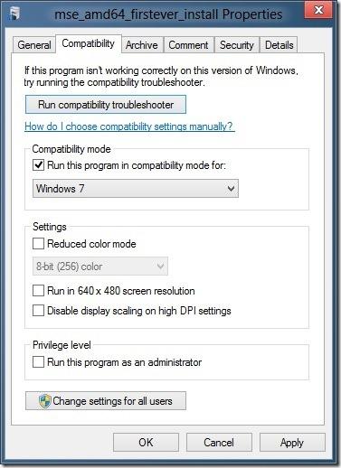 Install Microsoft Security Essentials