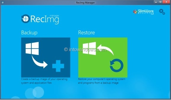 RecImg For Windows 8 Picture1