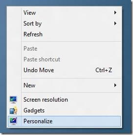 Show Computer Icon on Desktop In Windows 8 Step1