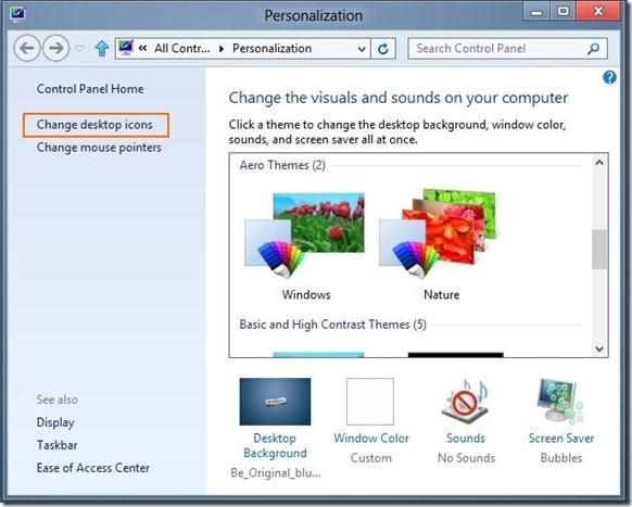 Show Computer Icon on Desktop In Windows 8