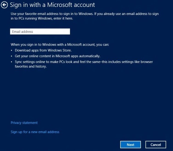 Switch Local Account to Microsoft Account Step3