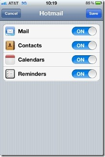 Add Outlook Account To iPhone step3