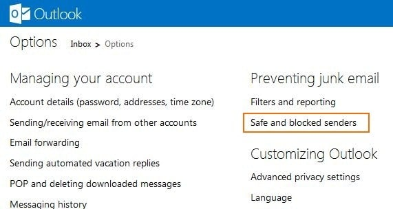 Block Email Address In Outlook Step2