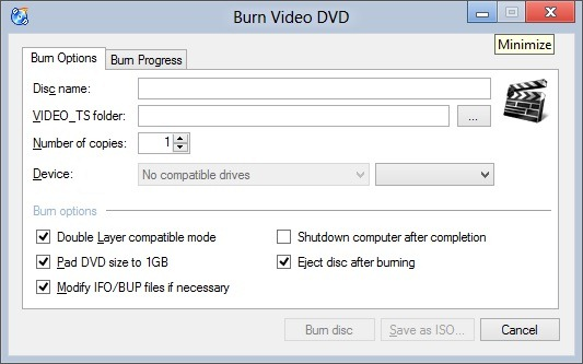 CD Burner XP for Windows 8 Picture2