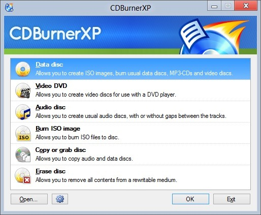 CD Burner XP for Windows 8