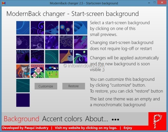 Change Windows 8 Start Screen Background Step1