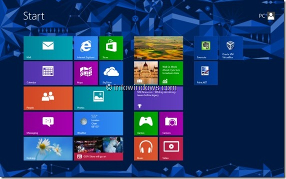 Customize Start Screen In Windows 8 Step1