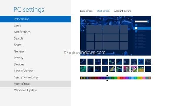 Customize Start Screen In Windows 8 Step2